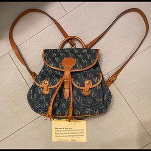 Dooney & Bourke mini monogram denim backpack 🎒